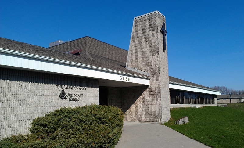 Agincourt Community Church Front Entrance at 3080 Birchmount Road