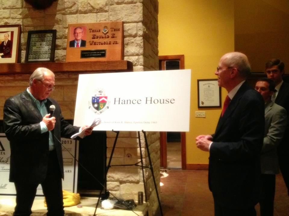 Pic of Hance House Dedication