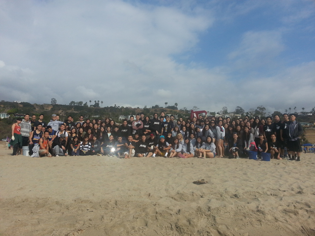 SoCal Asian Greek Council Beach Clean up