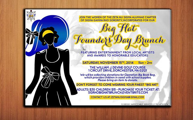 Big Hat brunch Flyer