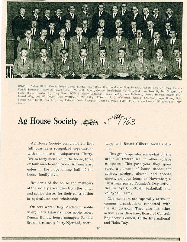 ag house 1962-1963