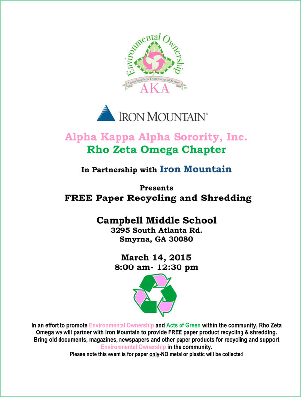 Recycle and Shredding d Flyer