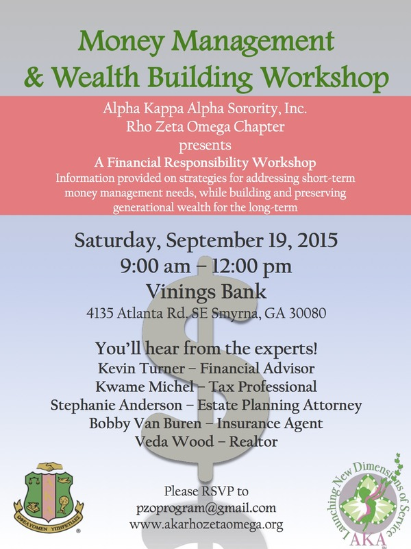 Money Managment Workshop Flyer