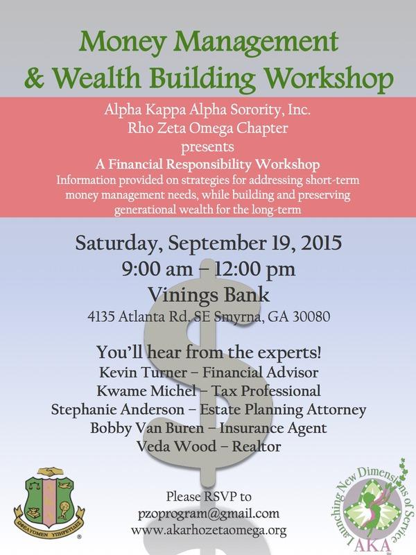 Money Managment Workshop Flyer