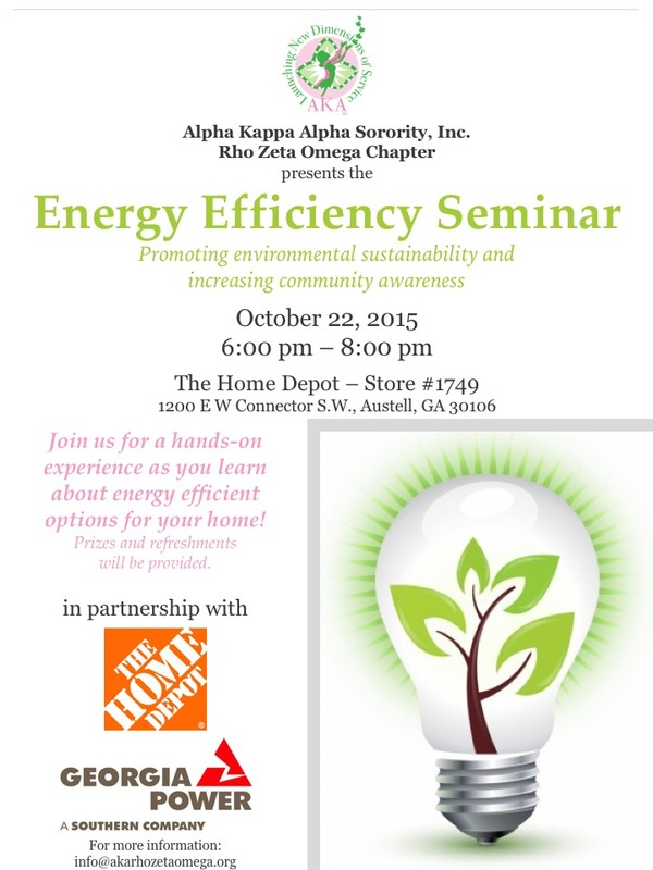 Energy Efficiency Seminar Flyer
