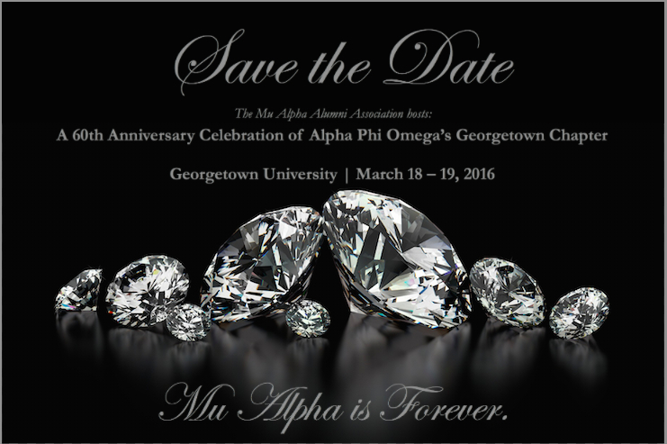 Save the Date 60th