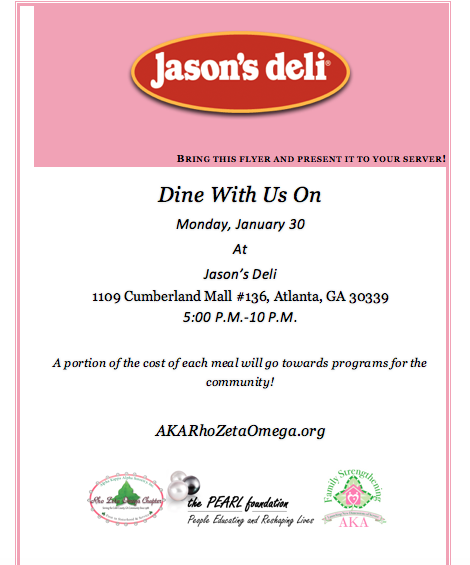 Jason's Deli Dine-Out Flyer