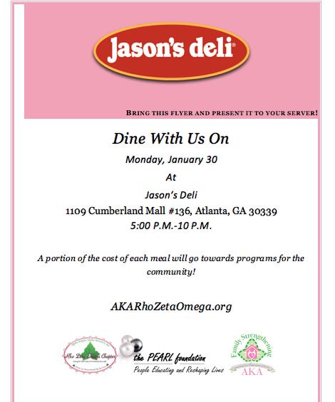 Jason's Deli Dine-Out Flyer