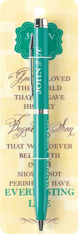 John 3 16 Bookmark and Pen