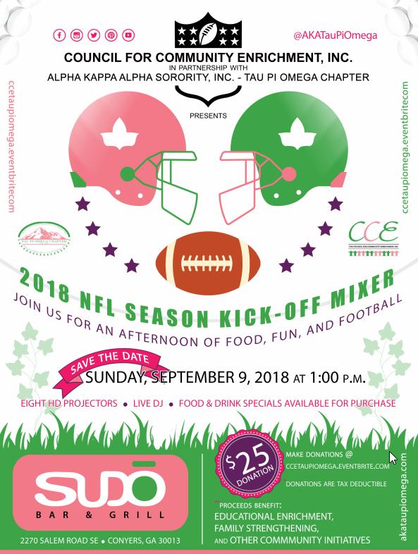 2018 NFL Kick-off Flyer