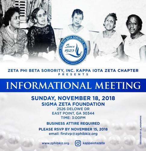 Zeta Interest meeting 2018