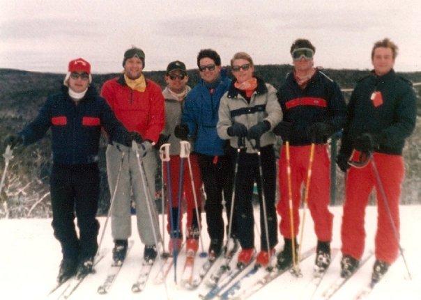 Ski trip in the 1980s
