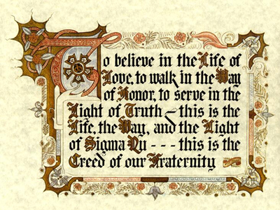 The Creed of Sigma Nu