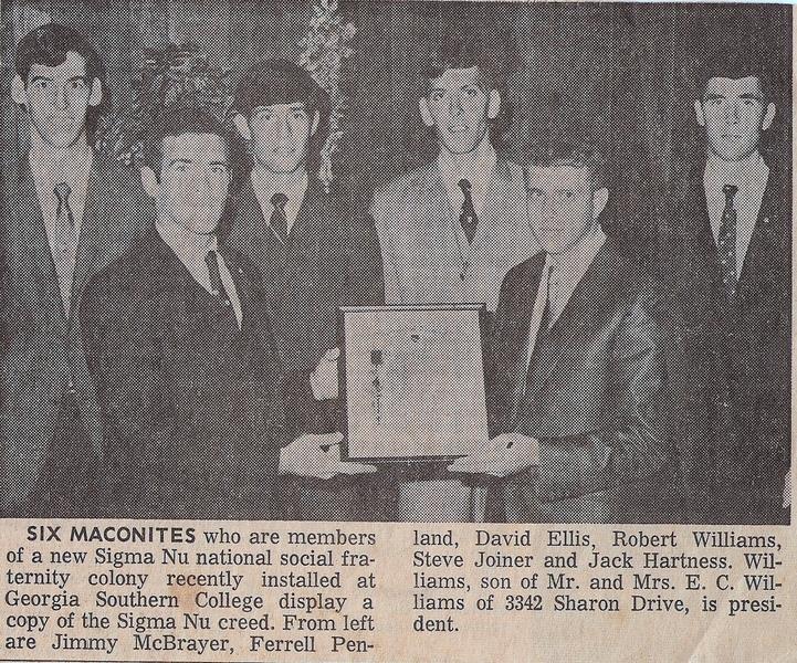 Macon Six in 1967
