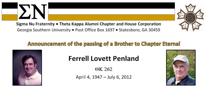 Ferrell L Penland - ThK 262