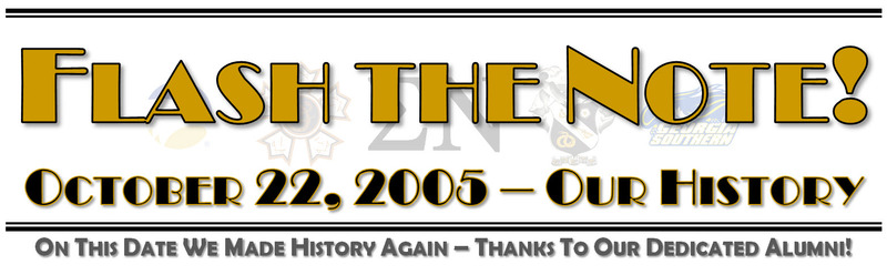Flash the Note - Oct. 22, 2005