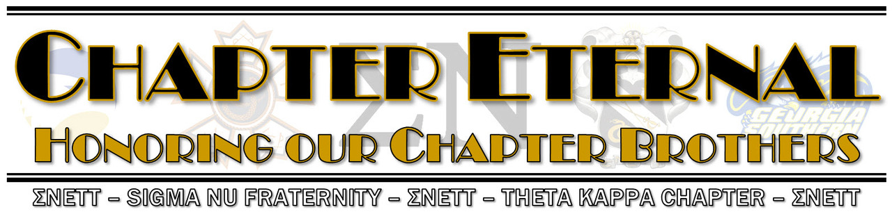 Chapter Eternal for the Theta Kappa Chapter