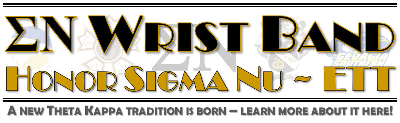 Sigma Nu - Theta Kappa Wrist Band
