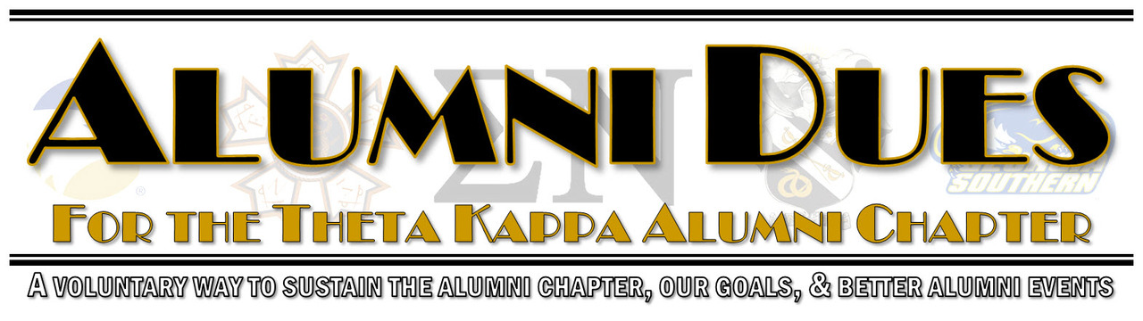 Alumni Dues for the Theta Kappa Alumni Chapter