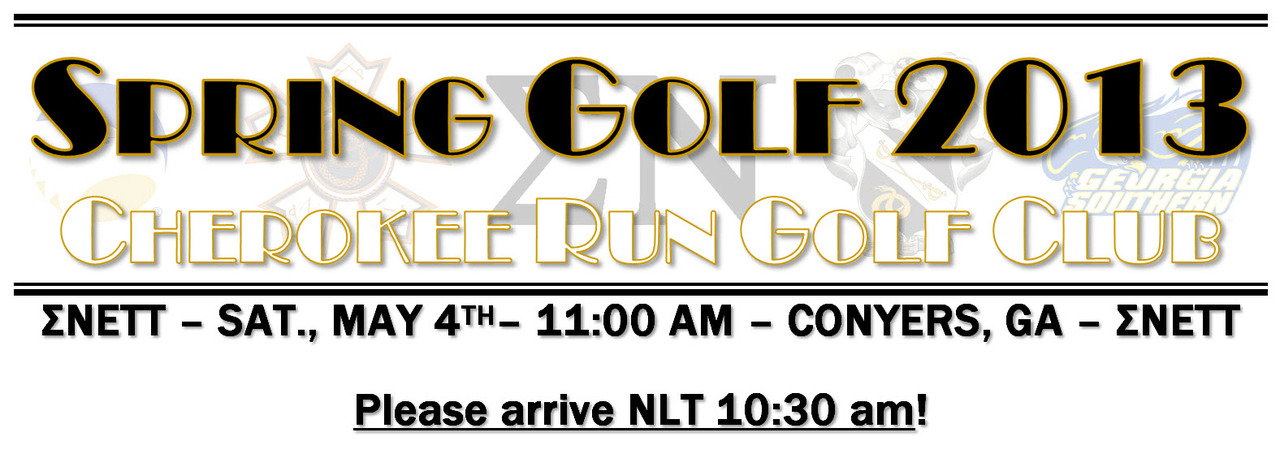 Spring Golf Outing in 2013