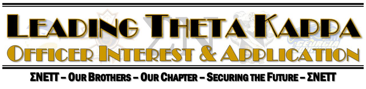 Theta Kappa Officer Information