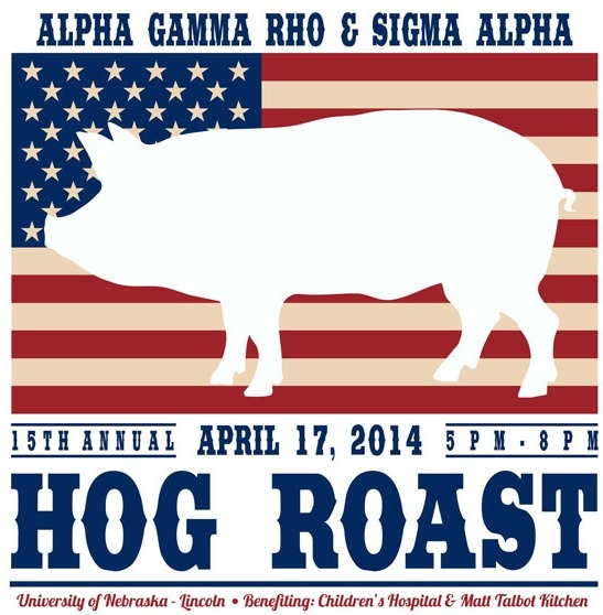 Come join UNL AGR - Kappa Chapter and UNL Sigma alpha is raising money for St. Jude's Children's research hospital! Tickets are $5 from any AGR or Sigma Alpha. Enjoy a great night of pork, music, and philanthropy! Hope to see you there!