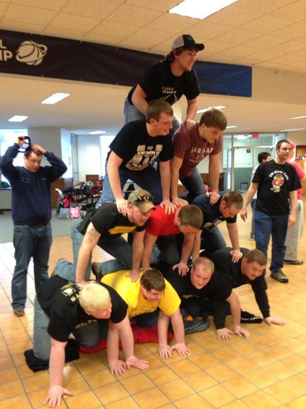 Greek Week Pyramid Building