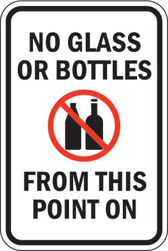 No Glass or Bottles at Sigma Nu House or Tailgating Areas!