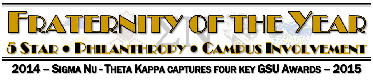 "Theta Kappa Chapter named ""Fraternity of the Year"" for 2014-15 at GSU"
