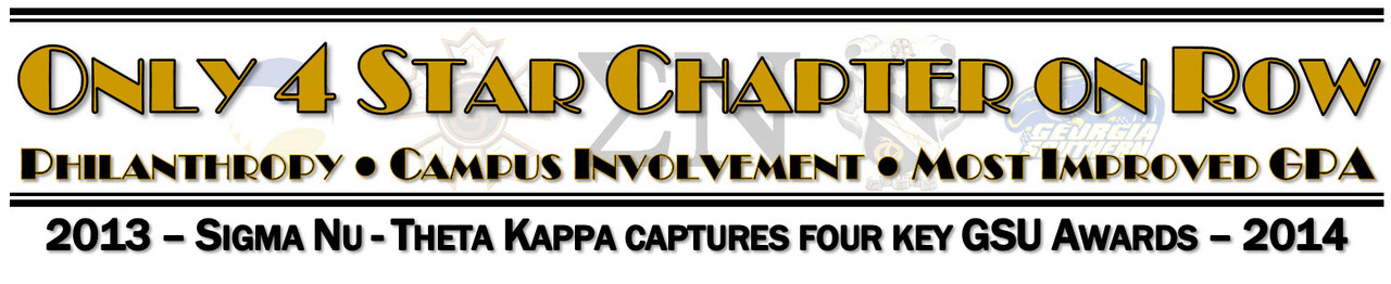 """Theta Kappa Chapter named """"Four Star Chapter"""" for 2013-14 at GSU"""