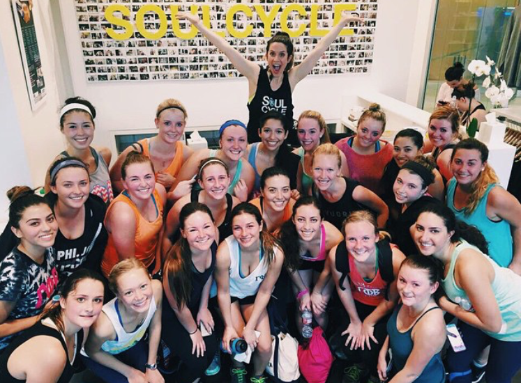 Gamma Phi Beta at Soul Cycle (2014)