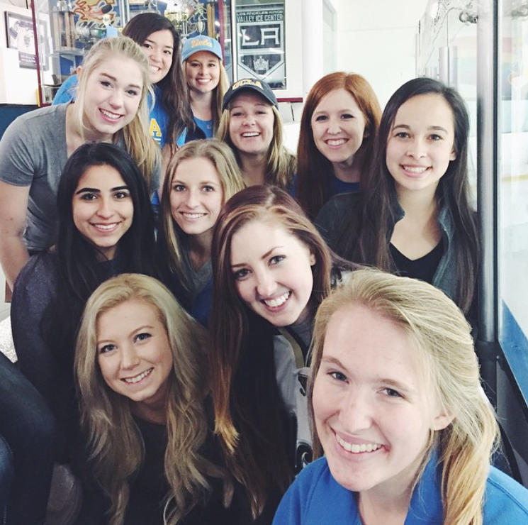 Alpha Delta Pi at the UCLA Hockey Game 2015