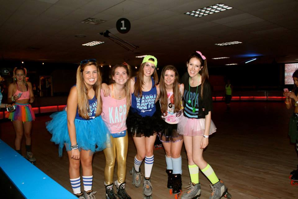 Kappa Kappa Gamma's Sisterhood at Skateland (2014)