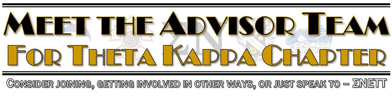Meet the Theta Kappa Advisor Team