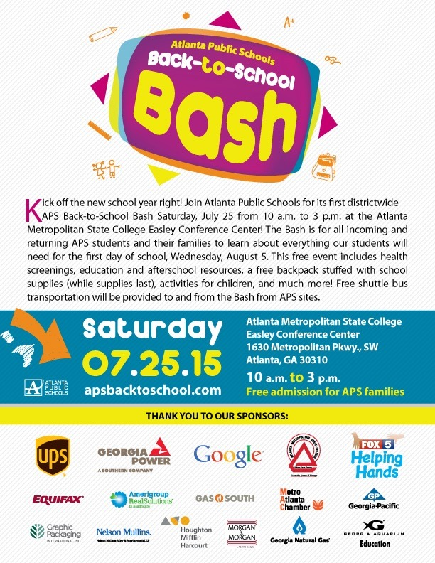 Join us as we promote HBCU Awareness at the APS Back-to-School Bash.  Please joins us.  