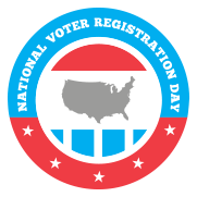 National Voter Registration Day is September 22, 2015.  Celebrate democracy in America by registering to vote!