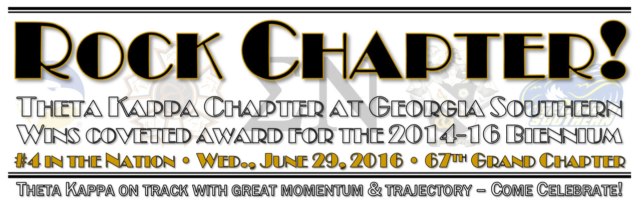 Theta Kappa attains coveted Rock Chapter award for the 2014-16 Biennium