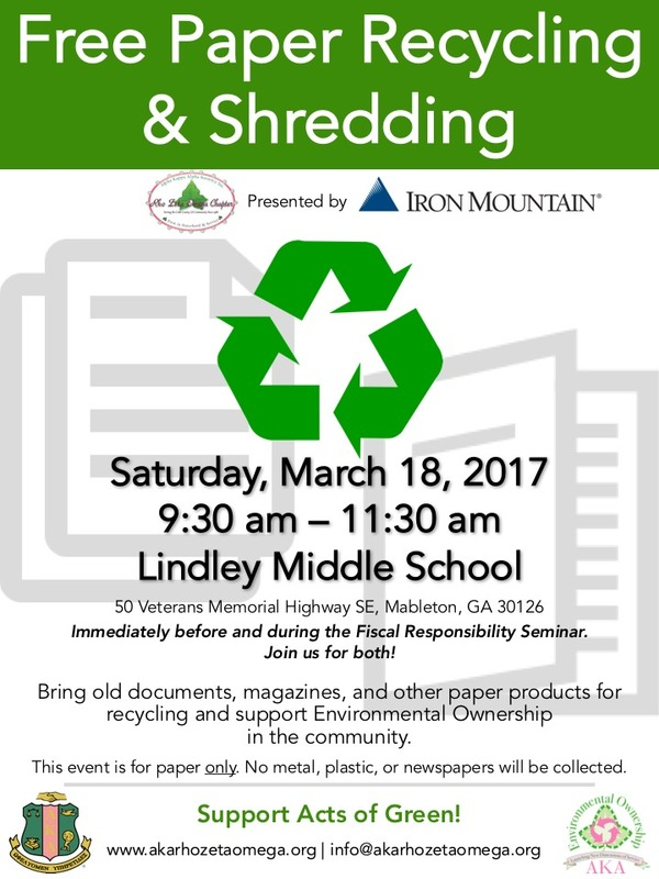 Full Recycle Shred Event Flyer with details