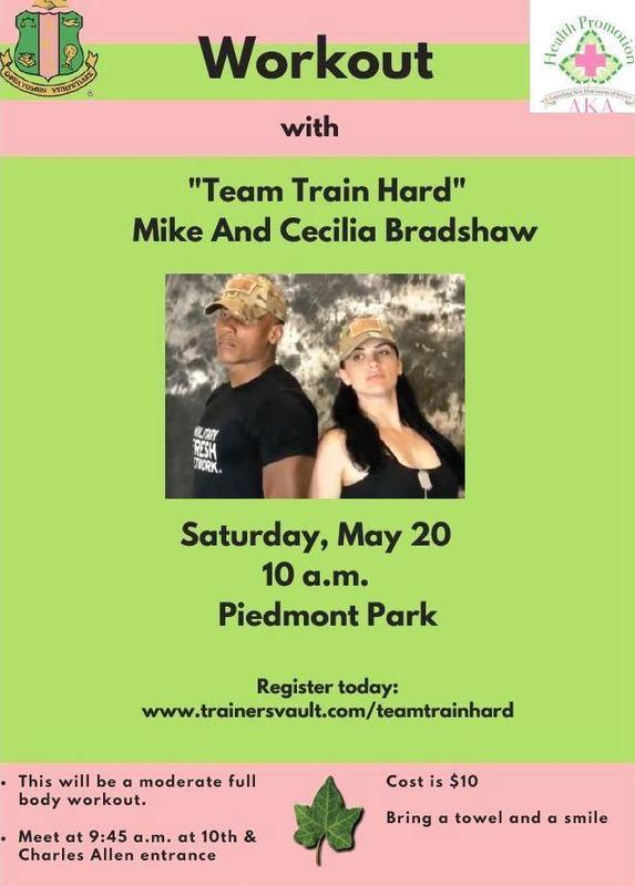 Team Train Hard Event Flyer
