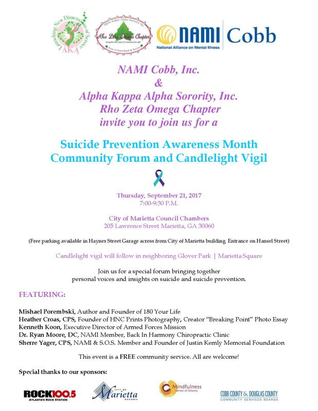 Suicide Prevent Event Flyer