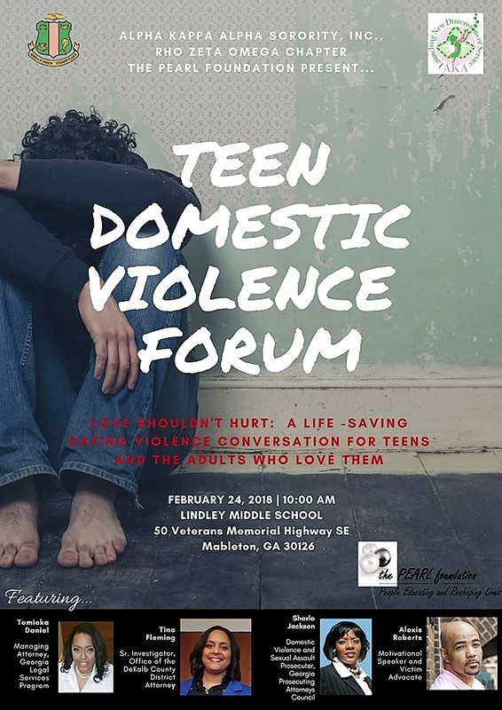 2018 Teen Violence Forum Flyer