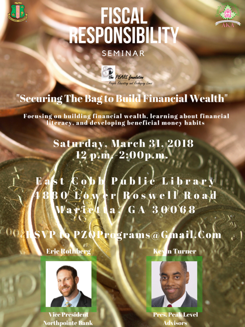 Financial Responsibility Seminar Flyer