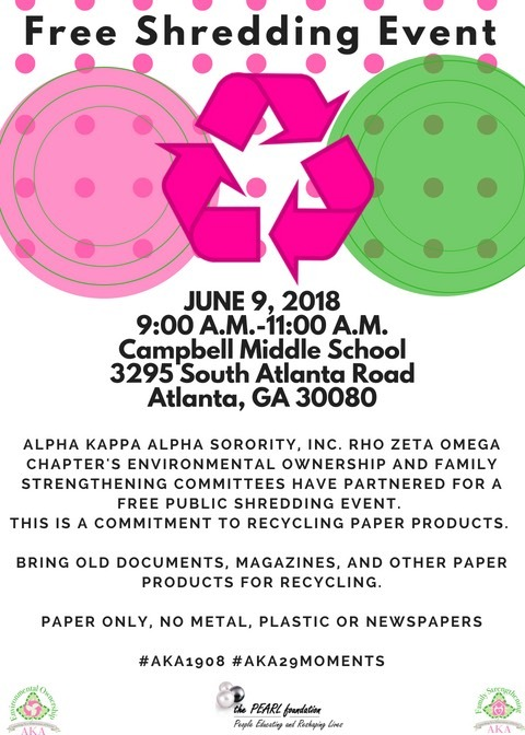 Shredding Event Flyer