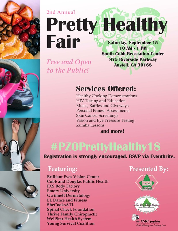 Pretty Health Fair Flyer, includes time and place details