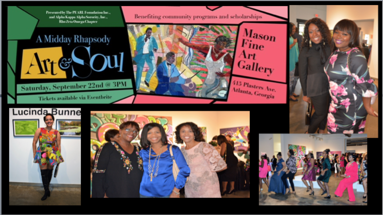 A Midday Rhapsody of Art & Soul Flyer, features details of about the event
