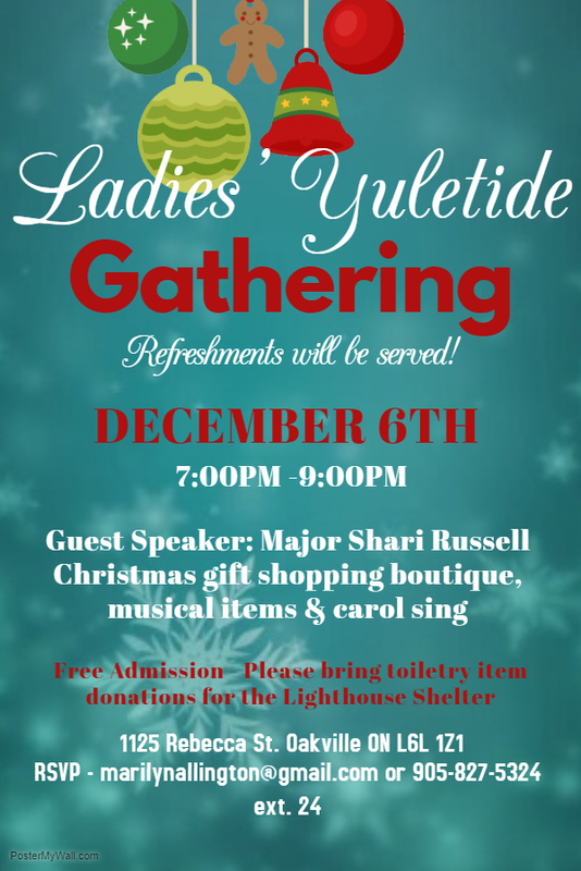 All Ladies Welcome.