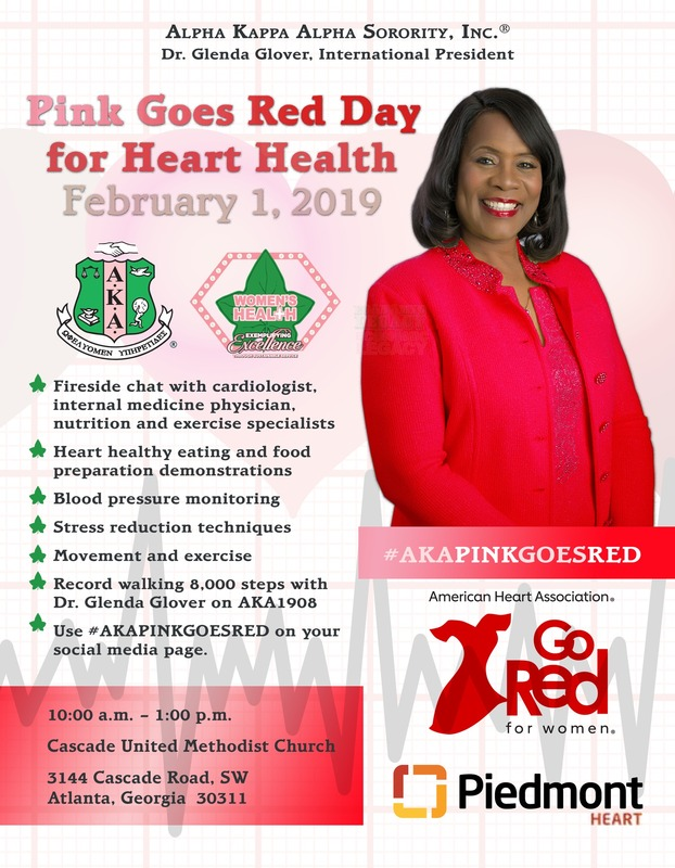 2019 Pink Goes Red Impact Day Flyer, includes event time and place details