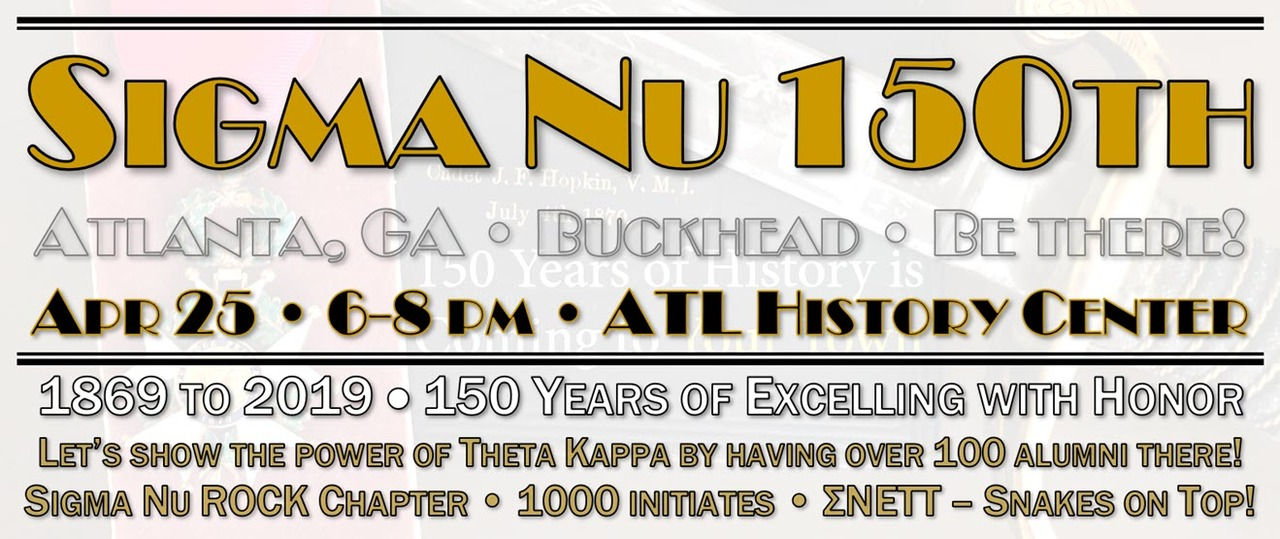 Sigma Nu 150th Anniversary in Atlanta