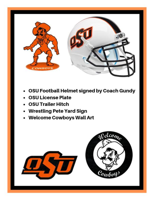 OSU_Football_Helmet_signed_by_Coach_Gundy_OSU_License_Plate_OSU_Trailer_Hitch_Wrestling_Pete_Yard_Sign_Welcome_Cowboys_Wall_Art.png