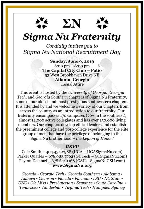 Sigma Nu NRD Invite